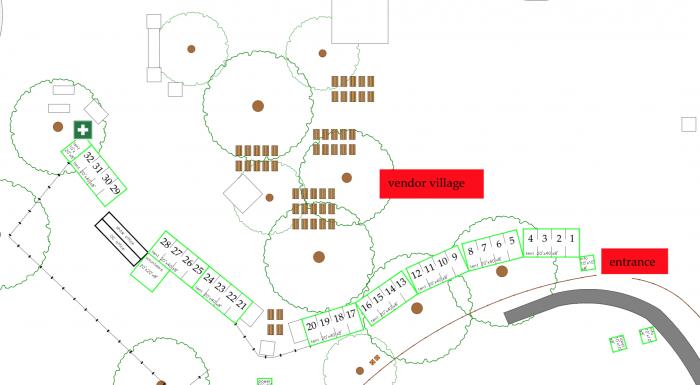 Live Oak 2020 Vendors Map